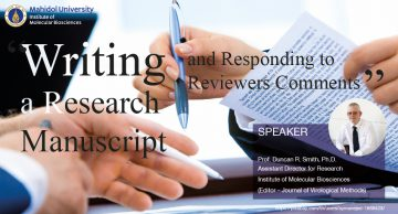 Writing a research manuscript & Responding to reviewers comments