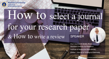 How to select a journal for your research paper & How to write a review