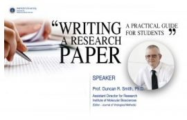 Knowledge management report: Writing a research paper: A practical guide for students