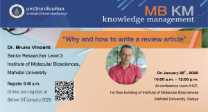 63-KM:Why and how to write a review article